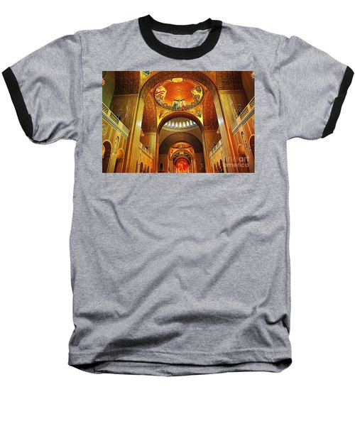 Baseball T-Shirt featuring the photograph  Basilica Of The National Shrine Of The Immaculate Conception by John S
