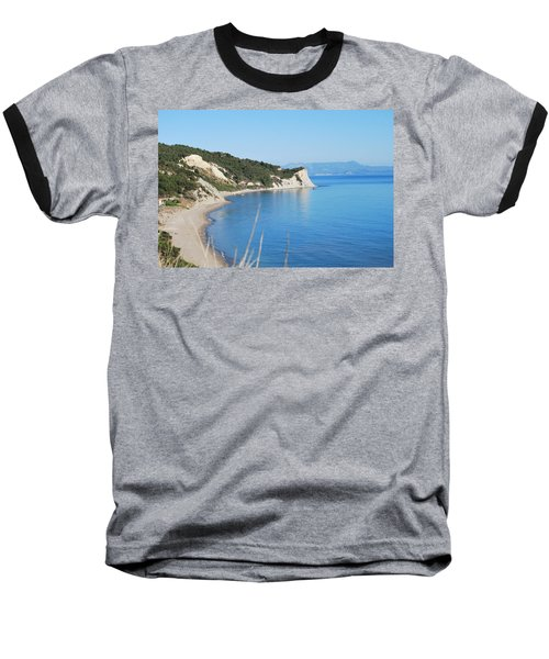 Baseball T-Shirt featuring the photograph  Beach by George Katechis