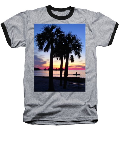 Baseball T-Shirt featuring the photograph  Beach Sunset by Aimee L Maher Photography and Art Visit ALMGallerydotcom