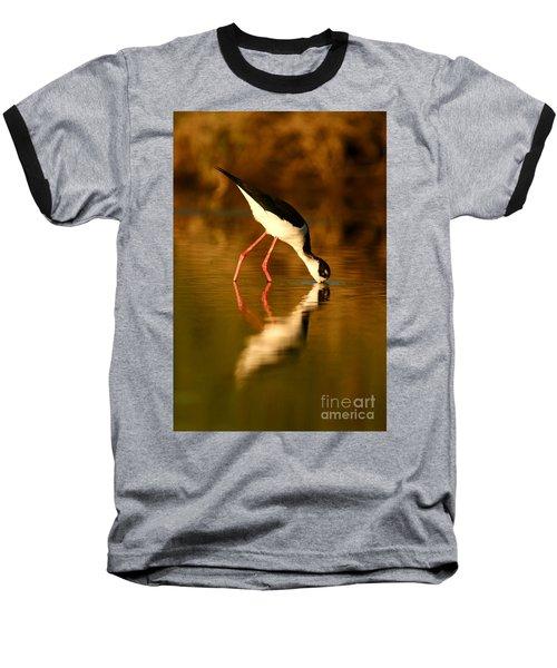 Stilt In Gold Baseball T-Shirt