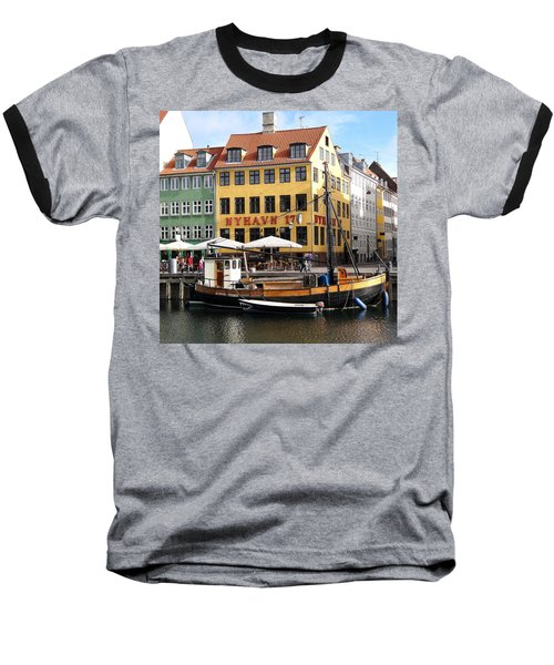 Boat In Nyhavn Baseball T-Shirt