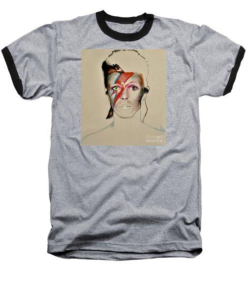 David Bowie Baseball T-Shirt by Maja Sokolowska