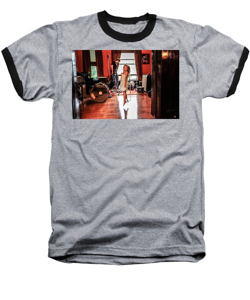 Baseball T-Shirt featuring the photograph  Brooklyn Dancing by Ray Congrove