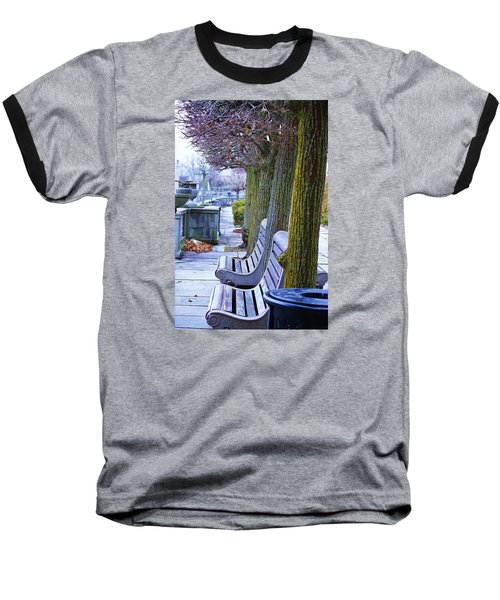 Baseball T-Shirt featuring the photograph  Colours In The Park by Al Fritz
