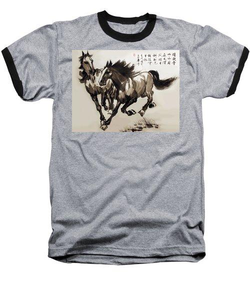 Baseball T-Shirt featuring the photograph  Companionship by Yufeng Wang