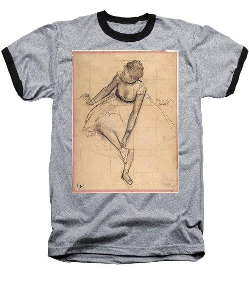Dancer Adjusting Her Slipper Baseball T-Shirt