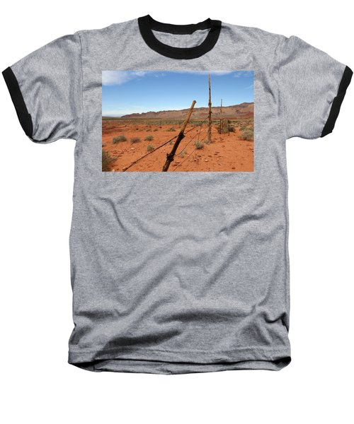 Baseball T-Shirt featuring the photograph  Don't Fence Me In by Tammy Espino