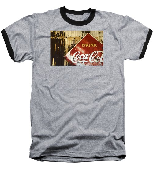 Drink Coca Cola  Memorbelia Baseball T-Shirt by Bob Christopher
