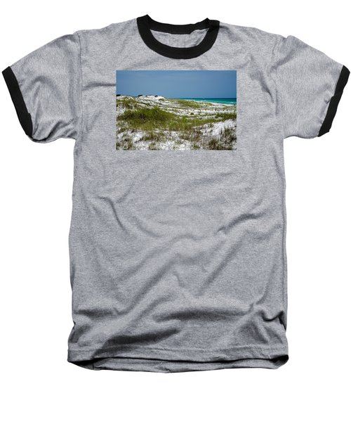 Baseball T-Shirt featuring the photograph  Dunes    Panama City Beach  by Susan  McMenamin