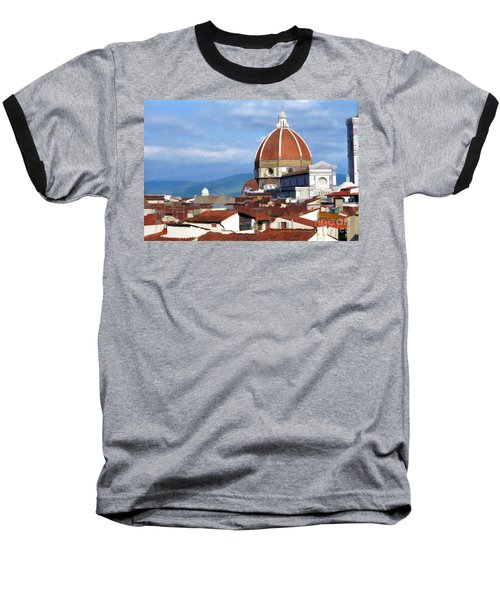 Baseball T-Shirt featuring the photograph  Duomo Of Florence # 3 by Allen Beatty