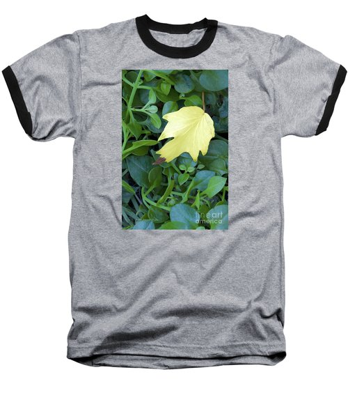 Fallen Yellow Leaf Baseball T-Shirt