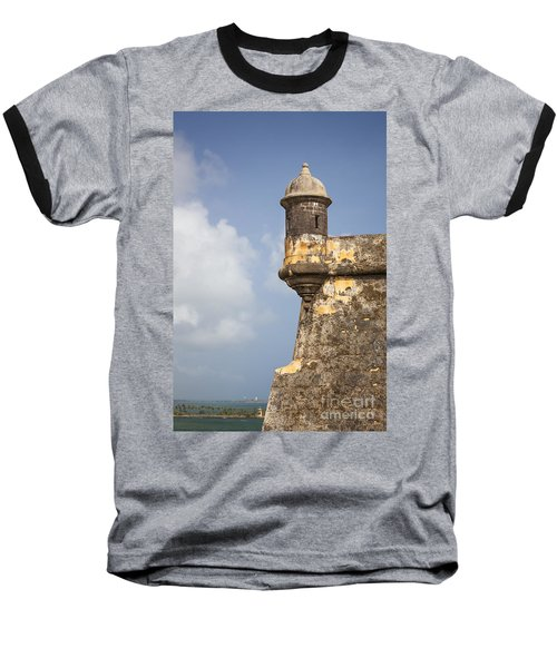 Fortified Walls And Sentry Box Of Fort San Felipe Del Morro Baseball T-Shirt