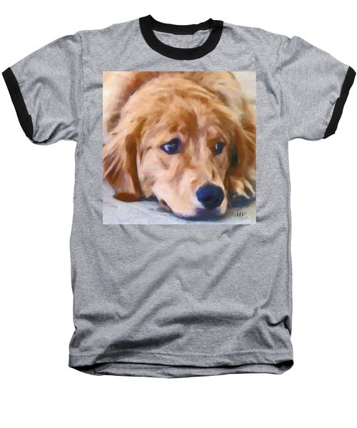 Golden Retriever Dog Baseball T-Shirt