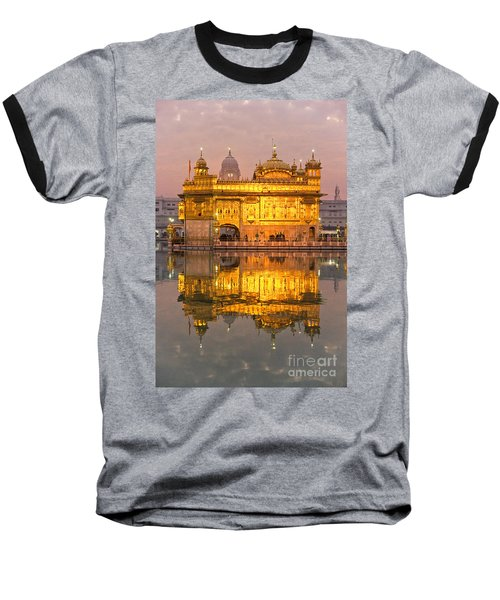 Golden Temple In Amritsar - Punjab - India Baseball T-Shirt by Luciano Mortula