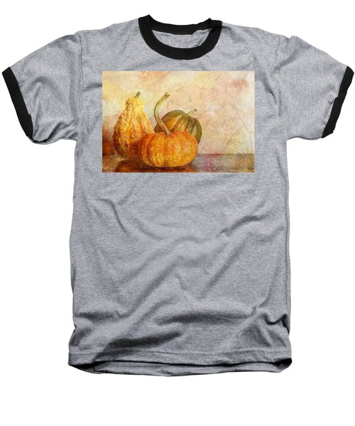 Gourd And Pumpkins II Baseball T-Shirt by Heidi Smith
