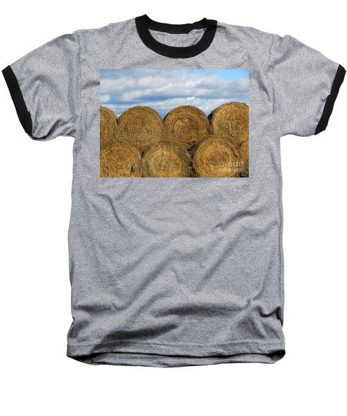 Baseball T-Shirt featuring the photograph  Hay  by France Laliberte
