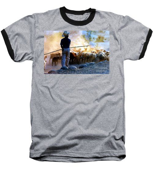 Herder Going Home In Mexico Baseball T-Shirt by Phyllis Kaltenbach