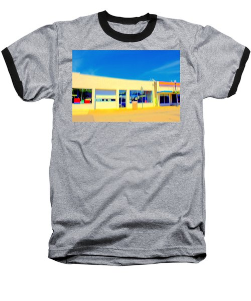 Baseball T-Shirt featuring the mixed media   Hopper Garage by Terence Morrissey