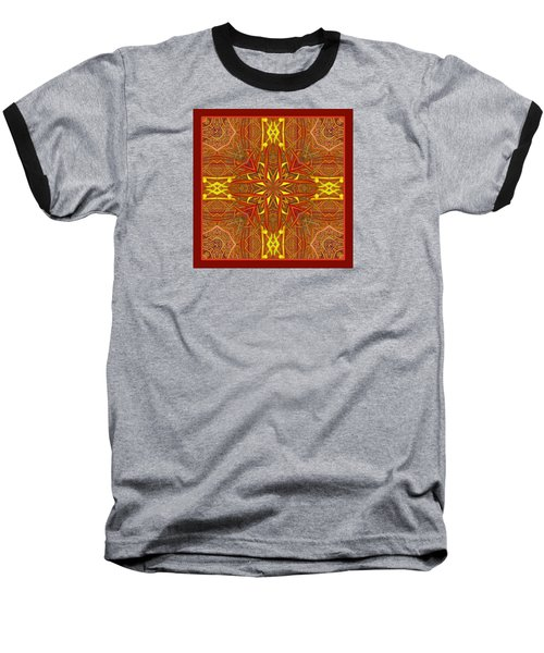 Baseball T-Shirt featuring the photograph  Keltic Cross by I'ina Van Lawick
