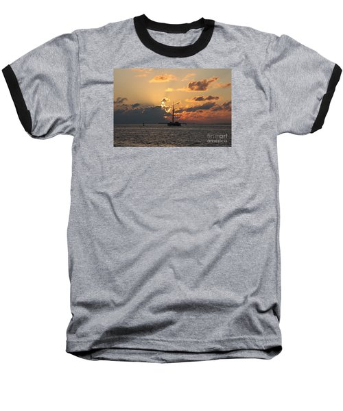 Baseball T-Shirt featuring the photograph Marelous Key West Sunset by Christiane Schulze Art And Photography