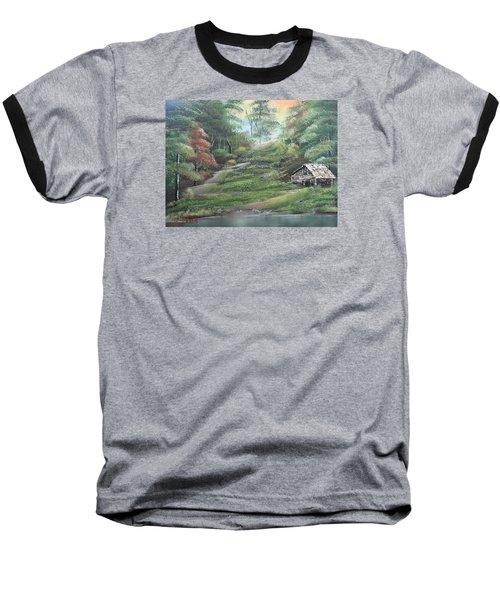 Light Down The River Baseball T-Shirt by Remegio Onia