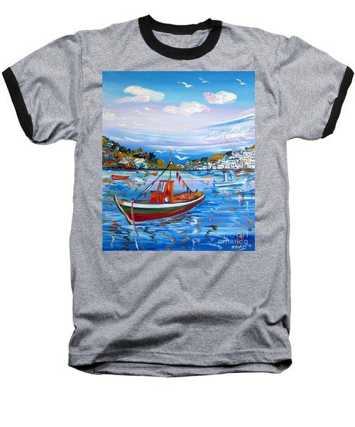 Little Fisherman Boat  Baseball T-Shirt