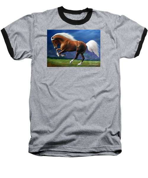 Magnificent Power And Motion Baseball T-Shirt by Vivien Rhyan