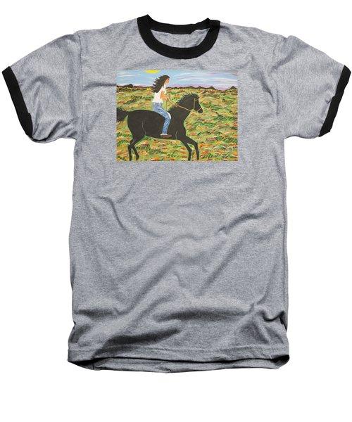 Morning Bareback Ride Baseball T-Shirt
