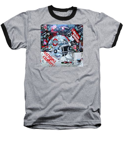 Ohio State University National Football Champs Baseball T-Shirt by Colleen Taylor