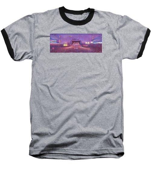 Baseball T-Shirt featuring the painting  Phish At Dicks by David Sockrider