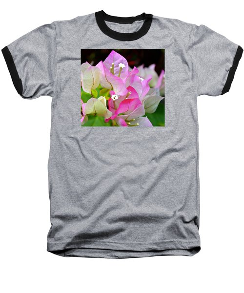 Pink  Bougainvillea ...with A Friend Baseball T-Shirt