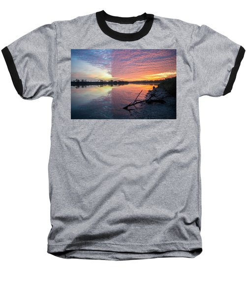 River Glows At Sunrise Baseball T-Shirt