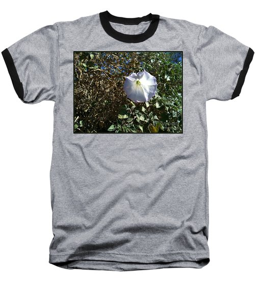 Baseball T-Shirt featuring the photograph  Sacred Datura by Angela J Wright