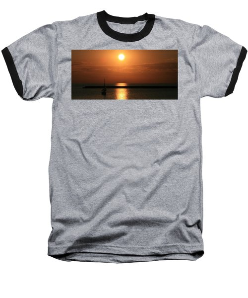 Sailboat A Drift Baseball T-Shirt by Kay Novy
