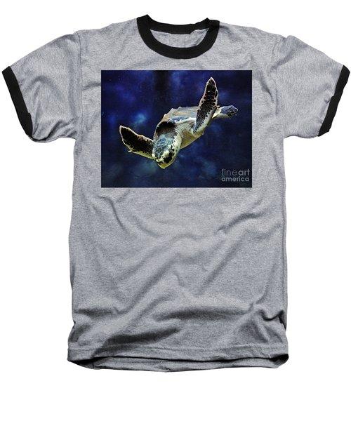 Baseball T-Shirt featuring the photograph  Sea Turtle by Savannah Gibbs