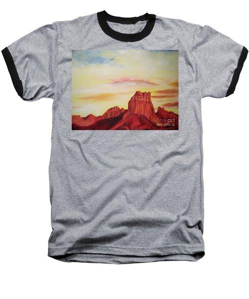 Baseball T-Shirt featuring the painting  Sedona Az by Eric  Schiabor