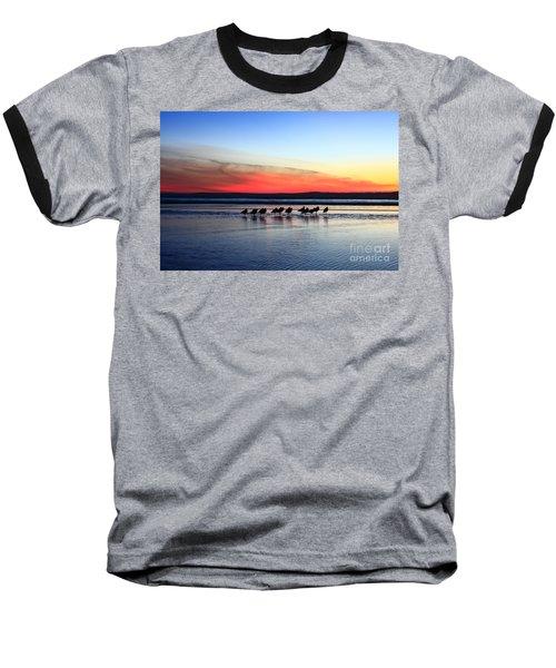Shorebird Sunset Baseball T-Shirt