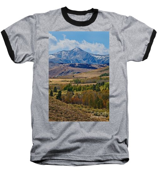 Baseball T-Shirt featuring the photograph  Sierras Mountains by Mae Wertz