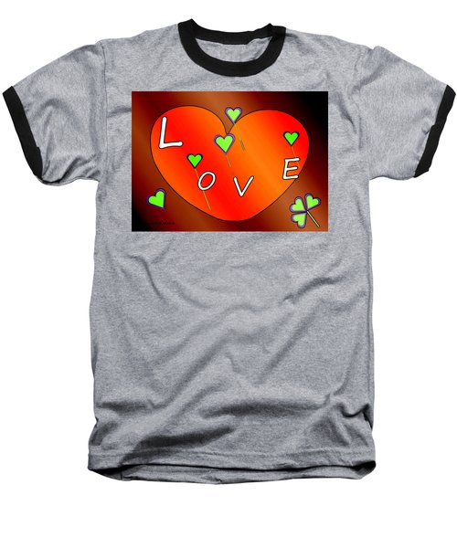 Simple  Love  Heart  - 505  Baseball T-Shirt