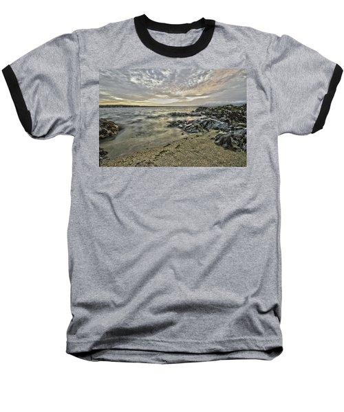 Skerries Ocean View Baseball T-Shirt by Martina Fagan