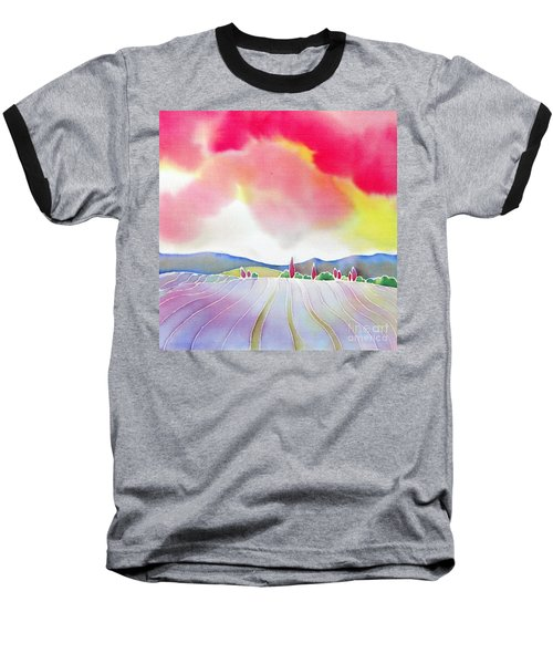 Sunset On The Lavender Farm Baseball T-Shirt