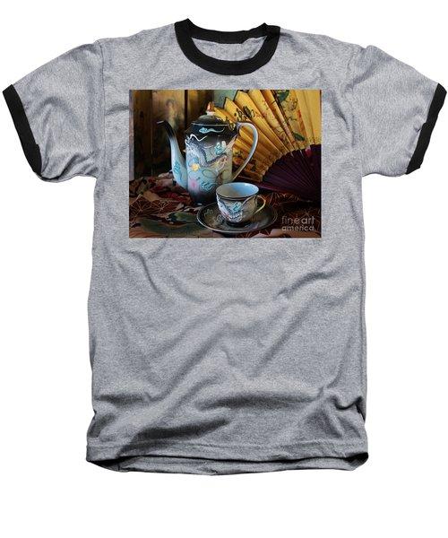 Tea And Calligraphy Baseball T-Shirt