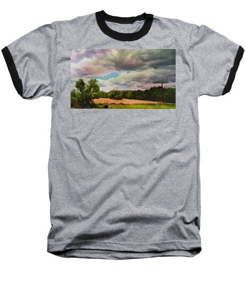 Baseball T-Shirt featuring the painting  Tennessee Landscape by Joan Reese