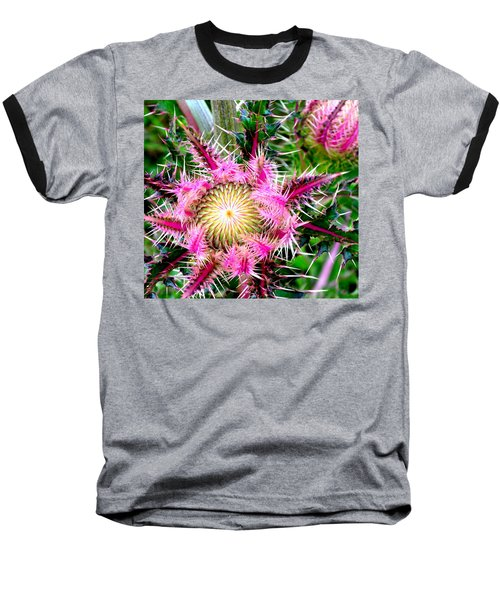 Baseball T-Shirt featuring the photograph  Texas Thistles by Antonia Citrino