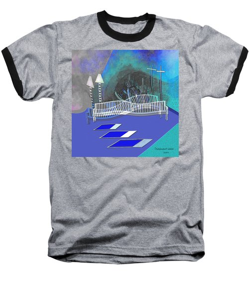112 This Earthquake Feeling   Baseball T-Shirt by Irmgard Schoendorf Welch
