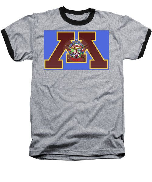 U Of M Minnesota State Flag Baseball T-Shirt
