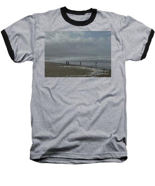 Wave Handstand  Baseball T-Shirt by Susan Garren