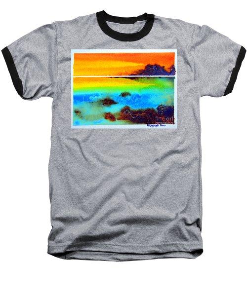 Western Australia Ocean Sunset Baseball T-Shirt