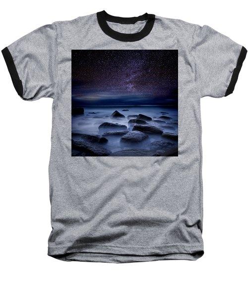 Where Dreams Begin Baseball T-Shirt by Jorge Maia