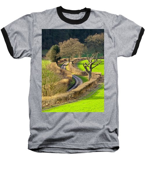 Winding Country Lane Baseball T-Shirt